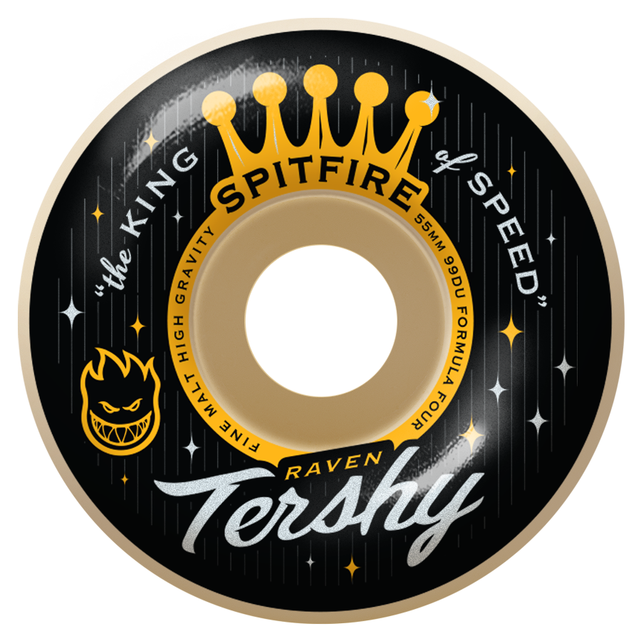 WHEELS / SPITFIRE / FORMULA FOUR / RAVEN TERSHY / KING OF SPEED - 99A -  CLASSIC SHAPE - 55MM - (set of four)