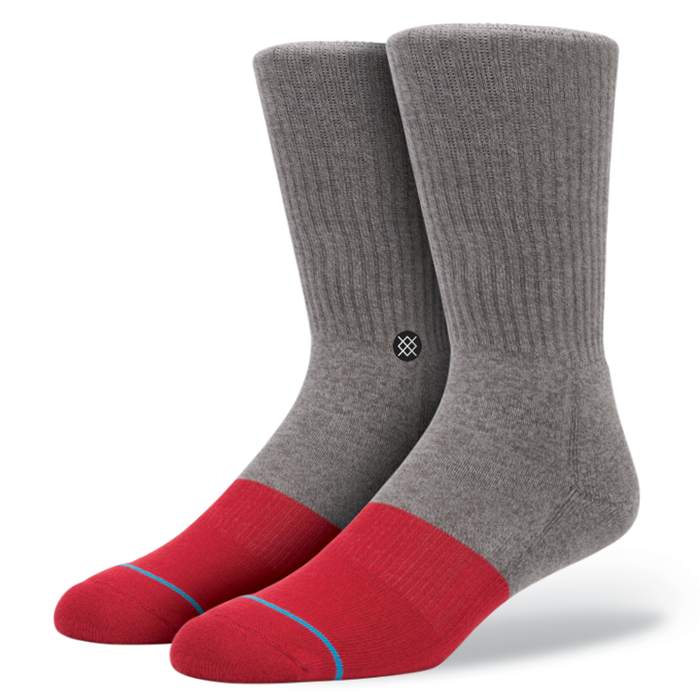 SOCKS / STANCE / TRANSITION - GREY/RED