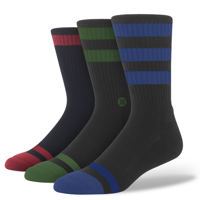 SOCKS / STANCE / TRIPLE THREAT - BLACK