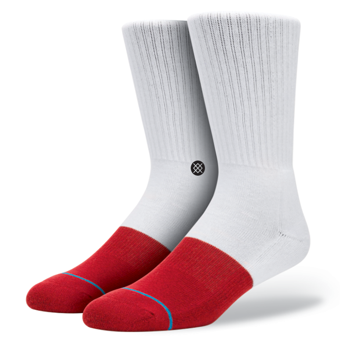 SOCKS / STANCE / TRANSITION - WHITE / RED