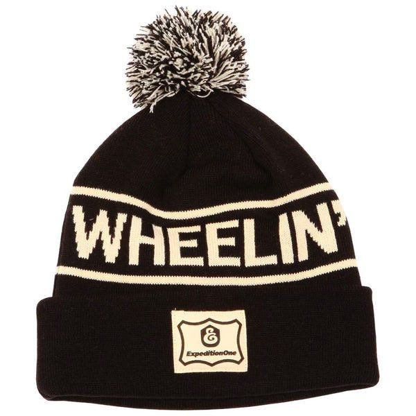 BEANIES / EXPEDITON / WHEELIN & DEALIN - POM BEANIE - BLACK