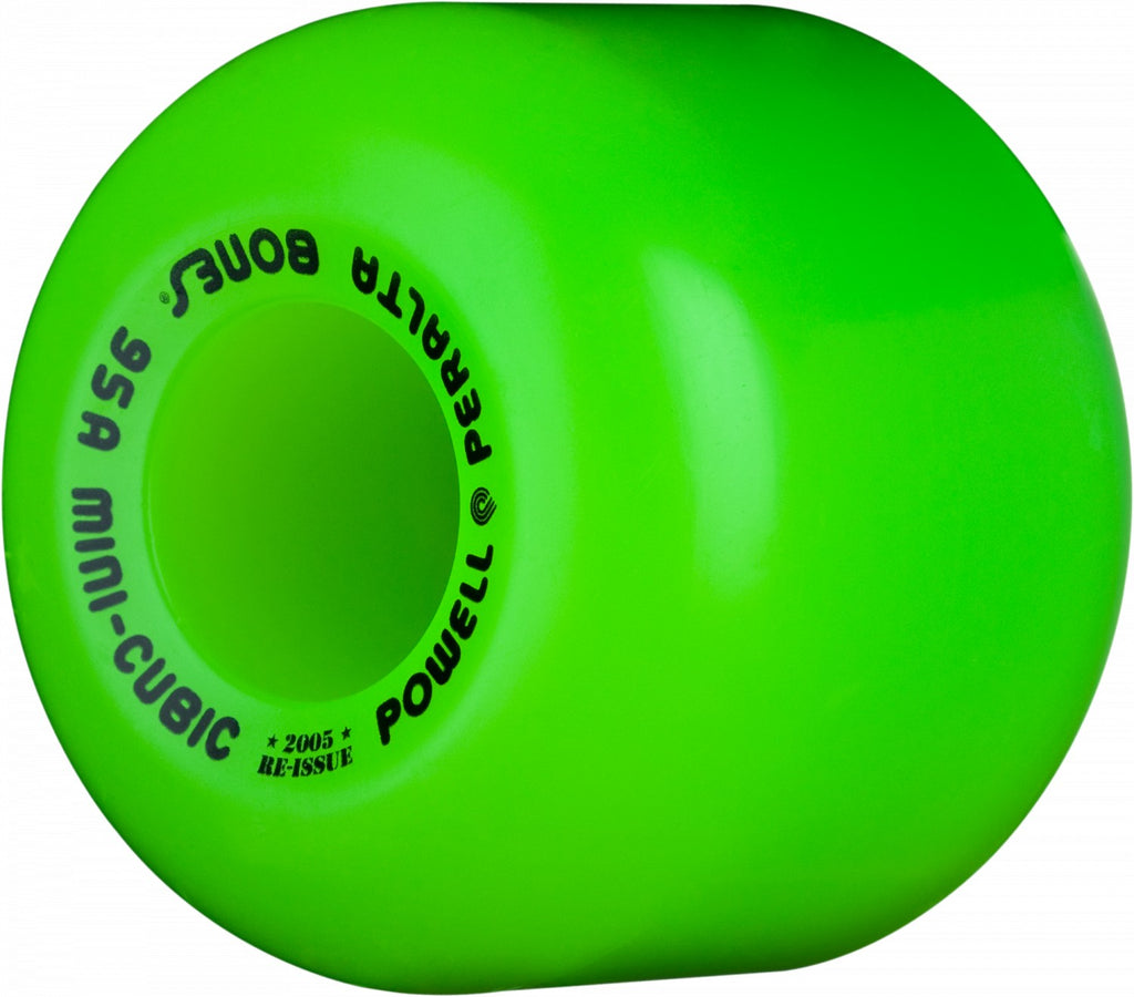 WHEELS / POWELL PERALTA / MINI-CUBIC - GREEN - 95A - 64MM - (set of four)