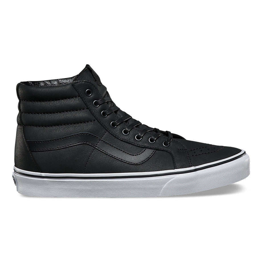 1e1fb56a382 FOOTWEAR   VANS   SK8-HI REISSUE - BLACK TRUE WHITE (PREMIUM LEATHER) –  Exodus Skate Shop