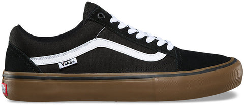 FOOTWEAR / VANS / OLD SKOOL PRO - BLACK/WHITE/MEDIUM GUM