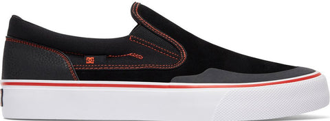 FOOTWEAR / DC / TRASE SLIP ON S R  - BLACK/RED/WHITE