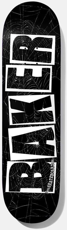 DECKS / BAKER /  BRAND LOGO - BLACK/WHITE - SPIDER - 8.25""