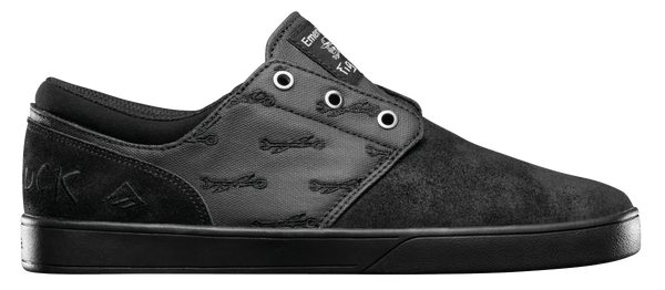 FOOTWEAR / EMERICA / THE FIGUEROA X HARD LUCK - BLACK/BLACK