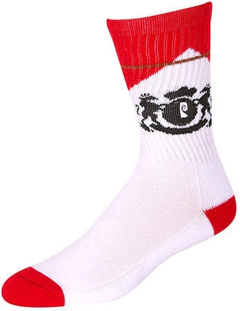 SOCKS / PSOCKADELIC / CIGS - WHITE/RED