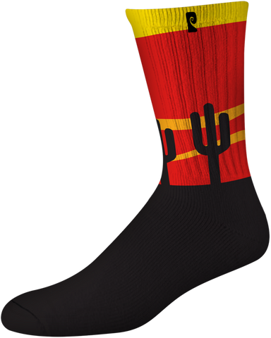 SOCKS / PSOCKADELIC / COOLER CACTUS - BLACK/RED