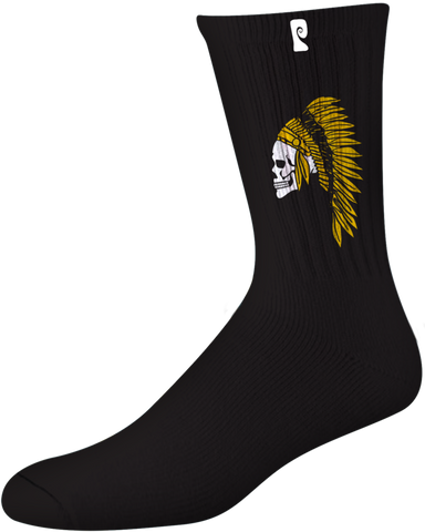 SOCKS / PSOCKADELIC / ELLINGTON 2 - BLACK/YELLOW