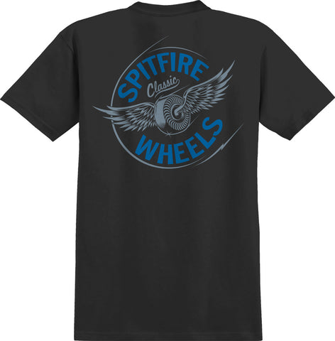 T-SHIRTS / SPITFIRE / FLYING CLASSIC POCKET - BLACK/BLUE