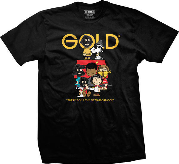T-SHIRTS / GOLD / GOLD GANG - BLACK