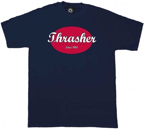 T-SHIRTS / THRASHER / OVAL - NAVY