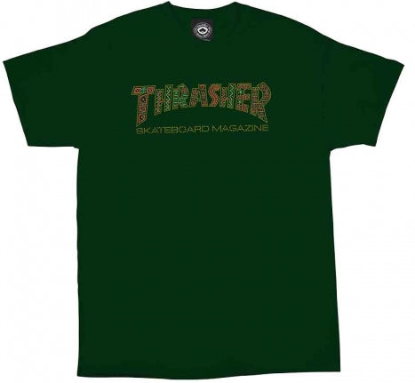 T-SHIRTS / THRASHER / DAVIS - FOREST GREEN