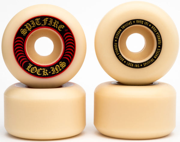 WHEELS / SPITFIRE / FORMULA FOUR - 101A -  LOCK INS SHAPE - 52MM - (set of four)