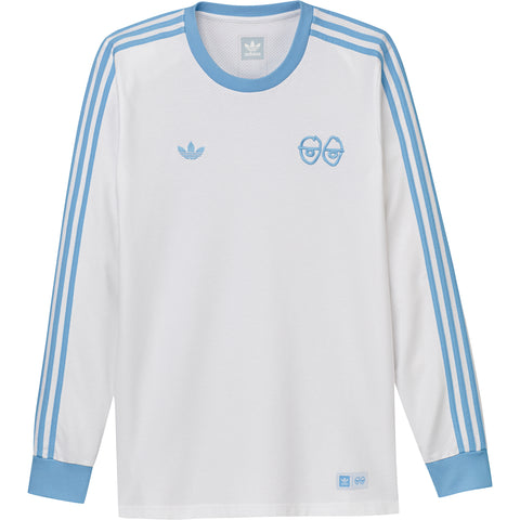 LONG SLEEVE T-SHIRTS / ADIDAS / ADIDAS X KROOKED / KROOKED LONG SLEEVE - WHITE/CLEAR BLUE