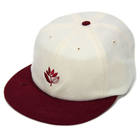 HATS / MAGENTA / 6P WOOL BRODE - WHITE/RED