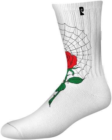 SOCKS / PSOCKADELIC / MCCORMICK - WHITE/RED