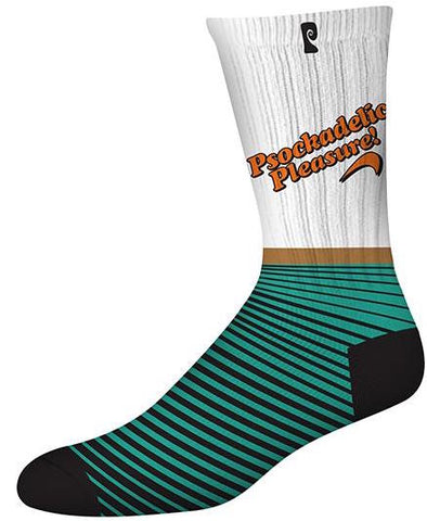 SOCKS / PSOCKADELIC / (SCENTED) PLEASURE- WHITE/TEAL