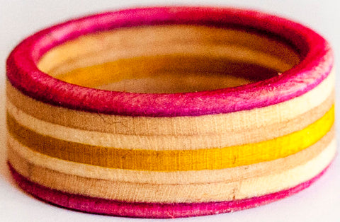 RINGS / RECYCLED RING / 9.5 -PINK/YELLOW/PINK