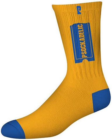 SOCKS / PSOCKADELIC / (SCENTED) PSOCKBUSTER- GOLD/BLUE