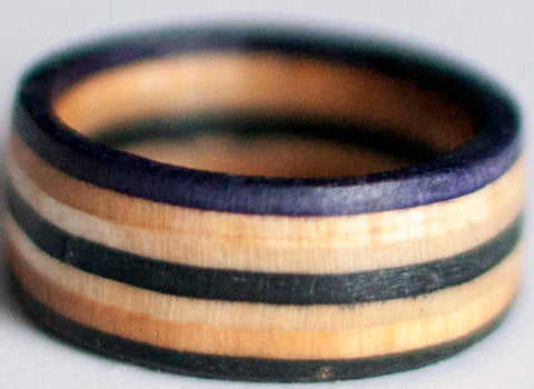 RINGS / RECYCLED RING / 7.5 - PURPLE/BLACK