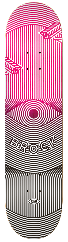 DECKS / REAL / OP ART - JUSTIN BROCK - 8.06""