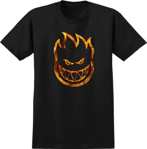 T-SHIRTS / SPITFIRE / BIGHEAD FLAME OUTLINE - BLACK