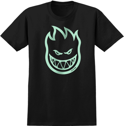 T-SHIRTS / SPITFIRE / BIGHEAD - BLACK (GLOW IN DARK print)