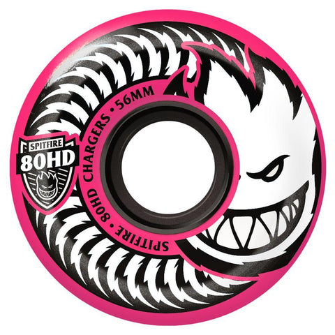 WHEELS / SPITFIRE / 80HD CHARGERS - PINK (CONICAL SHAPE) - 80A -  CLASSIC SHAPE - 58MM - (set of four) (WHEELS ALWAYS SHIP FREE)