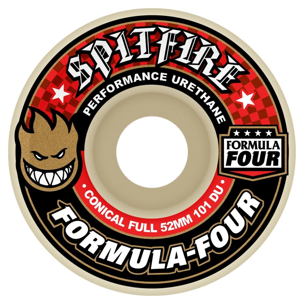 WHEELS / SPITFIRE / FORMULA FOUR - 101A -  CONICAL FULL SHAPE - 53MM - (set of four) (WHEELS ALWAYS SHIP FREE)