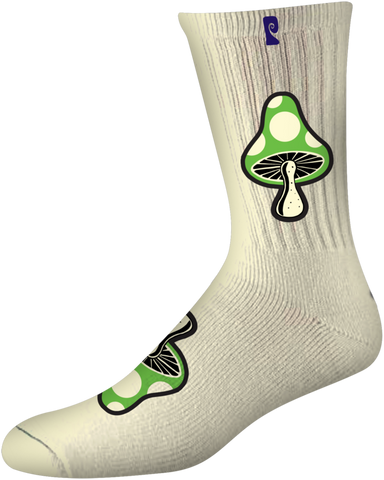 SOCKS / PSOCKADELIC / MUSHROOM 3 - WHITE (GLOW IN THE DARK)