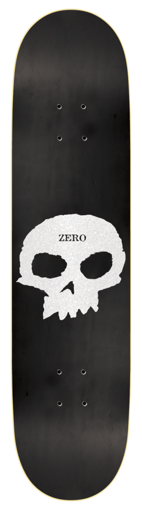 DECKS / ZERO / SINGLE SKULL - MATTE BLACK/PEARL - 8.25""