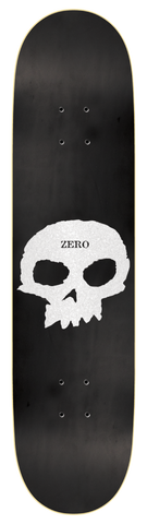 DECKS / ZERO / SINGLE SKULL - MATTE BLACK/PEARL - 8.0""