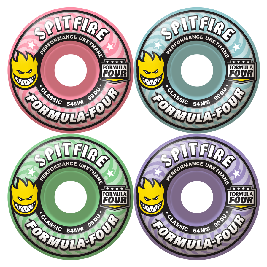 WHEELS / SPITFIRE / FORMULA FOUR - BLOOM MASH UP - 99A -  CLASSIC SHAPE - 52MM - (set of four)