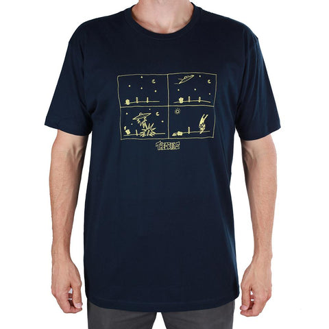 T-SHIRTS / THEORIES / HOW THEY GOT HERE - NAVY