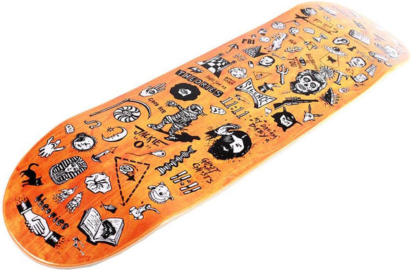 "DECKS / THEORIES / SPOOKY FROMHERE ON - 8.5"" (ORANGE VENEER)"