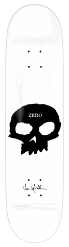 DECKS / ZERO / JAMIE THOMAS - SIGNATURE SKULL - WHITE/BLACK - 8.25""