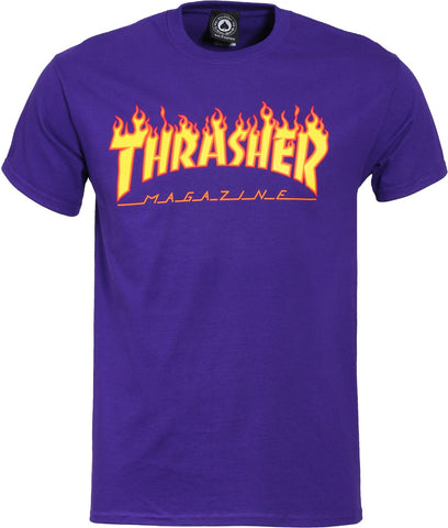 T-SHIRTS / THRASHER / FLAME LOGO - PURPLE