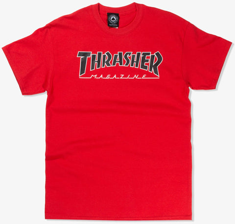 T-SHIRTS / THRASHER / OUTLINED - RED