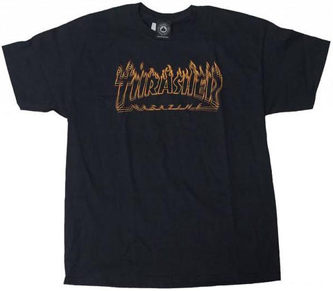 T-SHIRTS / THRASHER / RICHTER - BLACK