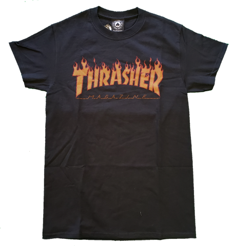 T-SHIRTS / THRASHER / HALFTONE - BLACK