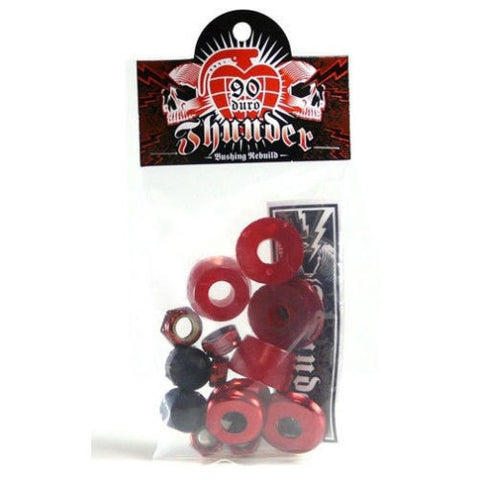 BUSHINGS / THUNDER / REBUILD KIT - 90 DURO - SOFT - RED