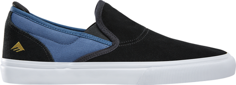 FOOTWEAR / EMERICA / WINO G6 SLIP-ON - BLACK/BLUE (JEREMY LEABRES colorway)