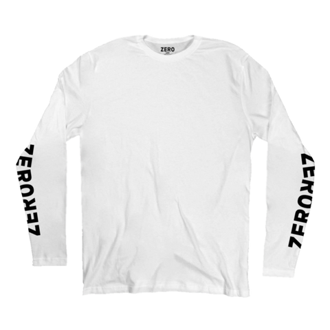 LONG SLEEVES / ZERO / NEGATIVE - WHITE