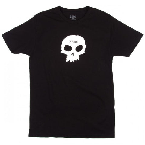 T-SHIRTS / ZERO / SINGLE SKULL - BLACK