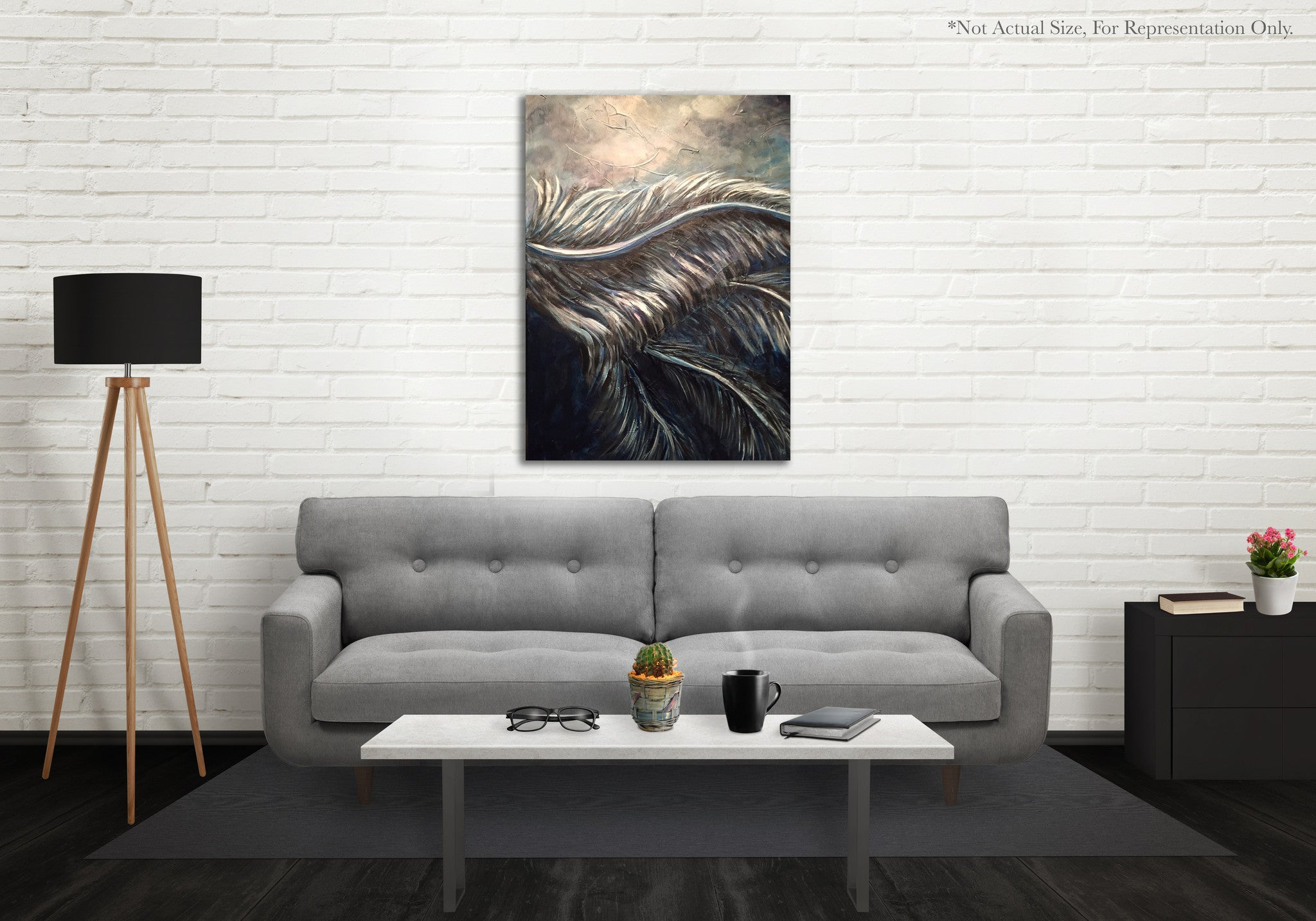 Feathers Prophetic Art Print Poster Example Photo