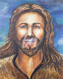 """Happy Jesus"" - Prophetic Art Print"