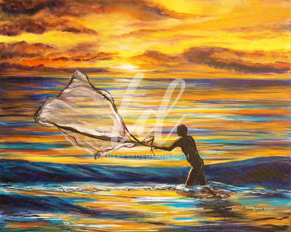"""Cast Out The Nets"" - Prophetic Art Print"