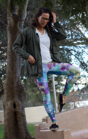 """Dancing Waters"" - Prophetic Art Leggings"
